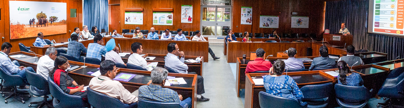Dr George Kotch, CGIAR Excellence in Breeding Module #1 Leader, speaking at the workshop. Photo: PS Rao, ICRISAT