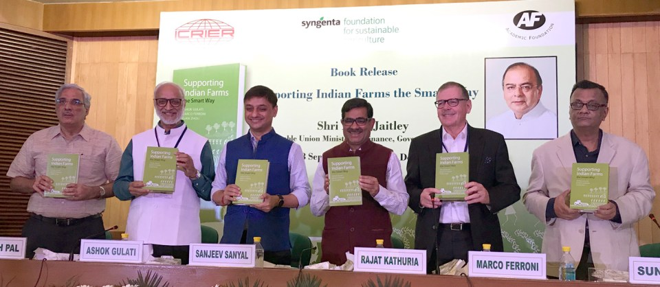 At the book launch in New Delhi. Photo: A Padhee, ICRISAT