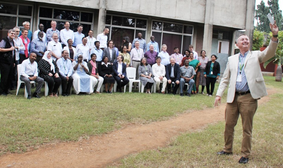 Dr Carberry with members of the Independent Advisory Committee and the Research Management Committee. Photo: PS Rao, ICRISAT
