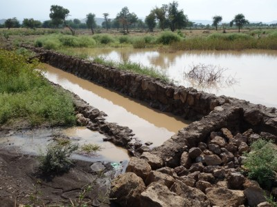 Water spreading weir structures in Chifra, Afar, Ethiopia. Photo: Anthony Whitbread/ICRISAT