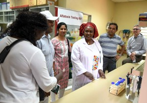 Visit to the aflatoxin testing lab.