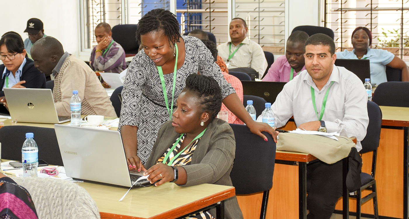 The training coordinators put in extra effort to increase women participation. Photo: ICRISAT