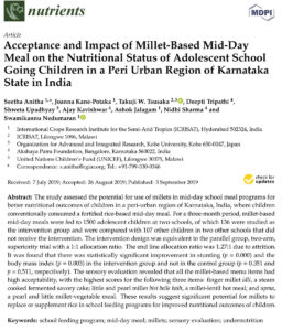 Study - Acceptance and impact of mid-day millet meals