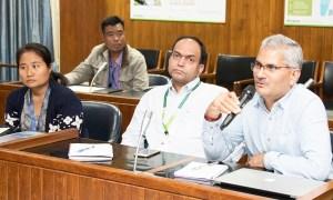 Dr NVPR Ganga Rao, Principal Scientist, ESA, ICRISAT, gives his feedback during the workshop. Photo: S Punna, ICRISAT