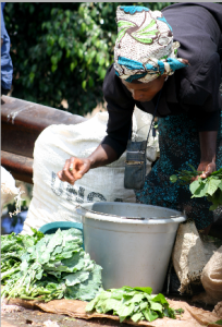 Indigenous vegetables on sale in an low-income settlement in Nairobi, Kenya. Photo: The Star, Kenya