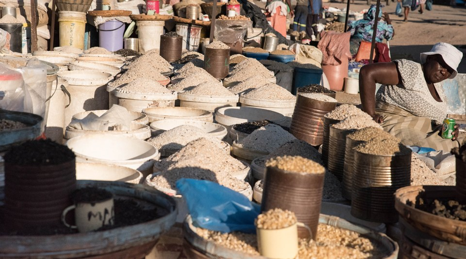 Closure of open markets like this one in Bulawayo, Zimbabwe, due to lockdowns mean loss of income and nutrition for the urban poor. Photo: Kennedy Famba