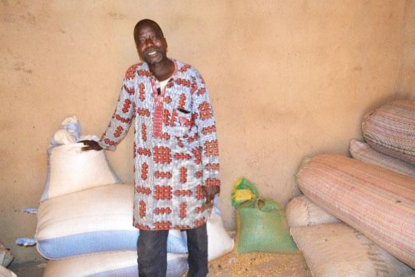 Fousseyni Mariko is his grain store. Photo: A. Diama, ICRISAT