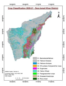 Figure 1. Crop classification in Dera Ismail Khan, Pakistan.