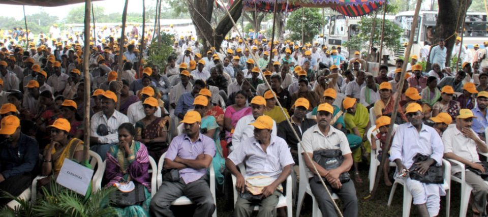 Farmers from seven Indian states. Photo: PS Rao, ICRISAT
