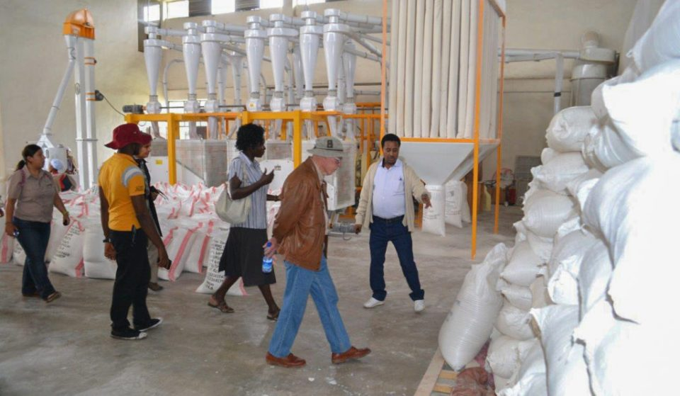 Inside Lume Adama, Farmers' Cooperative Union's flour factory. Photo: ICRISAT