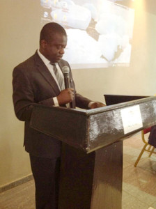 Mr Bright Kumwembe, Chief Director, MoAIWD, Malawi, opens the workshop.