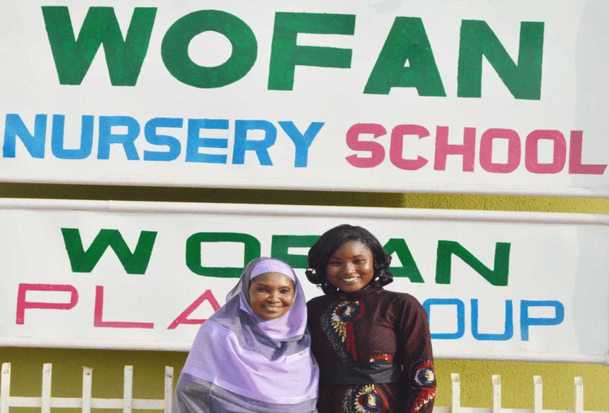 Mrs Salamatu Garba, Executive Director, Women Farmers Advancement Network (WOFAN), Nigeria (left) with Ms Agathe Diama, Regional Information Officer, West & Central Africa Program, ICRISAT.