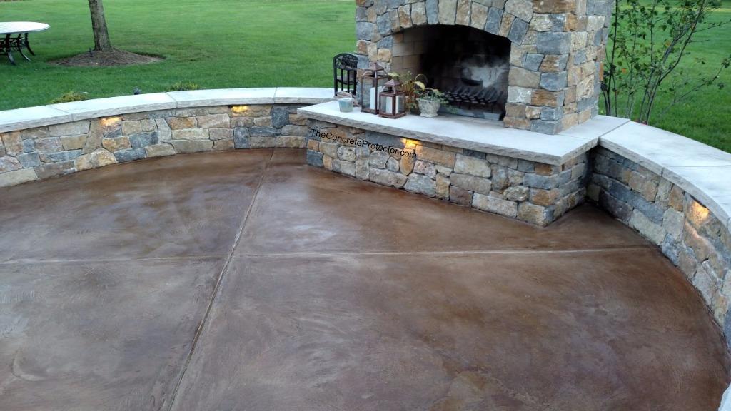 how to stain concrete intermountain