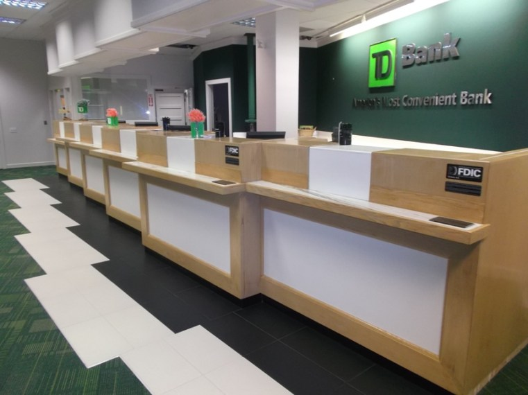 Banking and Financial Construction   Renovation  TD Bank N A Retail         Bank Counter