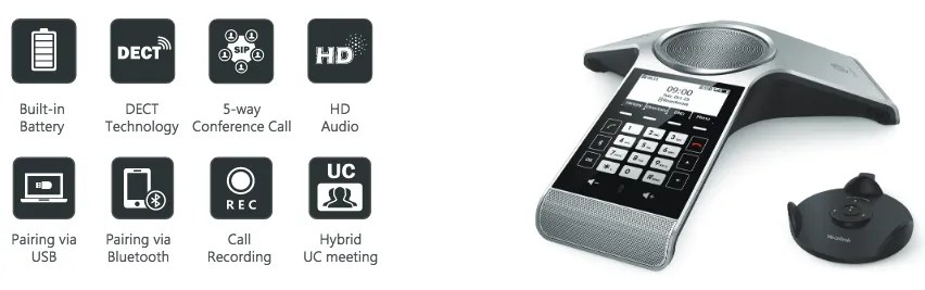 Yealink CP930W wireless DECT conference phone | ICS Technologies