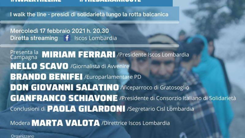 I walk the line: presidi di solidarietà lungo la rotta balcanica – evento facebook