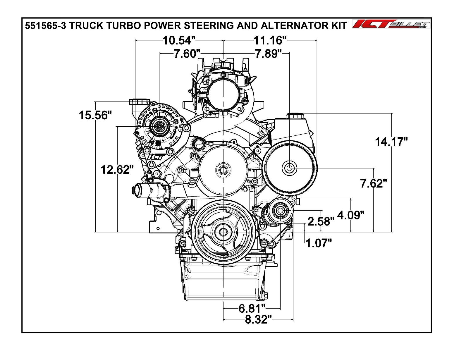 5 3l Ls Turbo Alternator Amp Power Steering Pump Mount