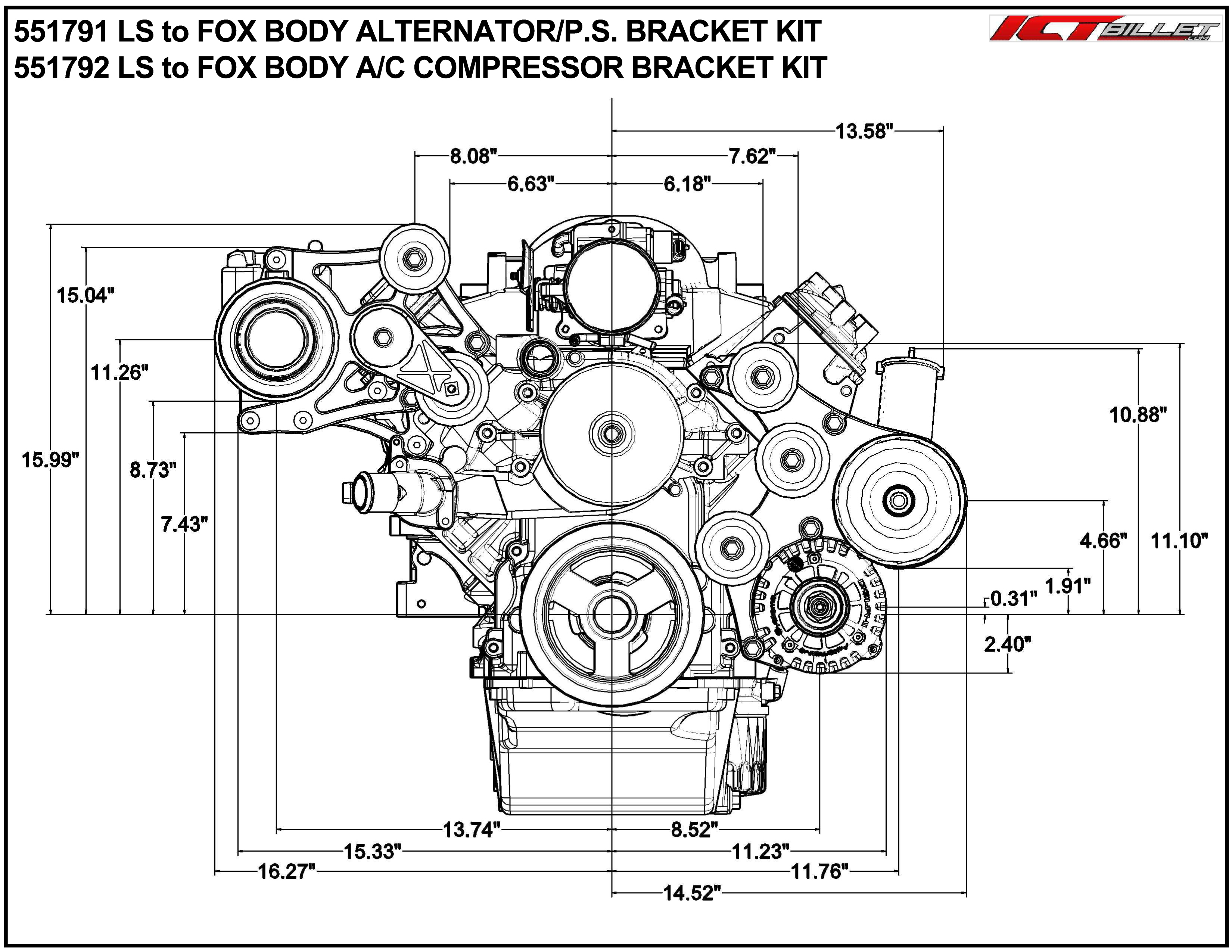 Ls Oem Fox Body A C Compressor Alternator Power Steering