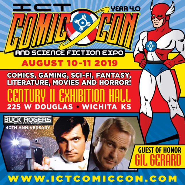 ICTComicCon 4.0 2019 Flyer for August 10th & 11th, 2019