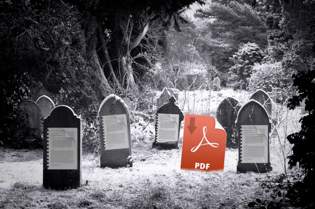Academic Publications PDF Graveyards