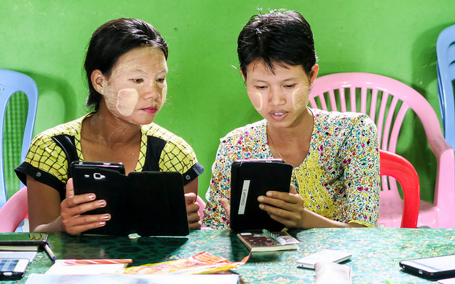 myanmar gender digital divide