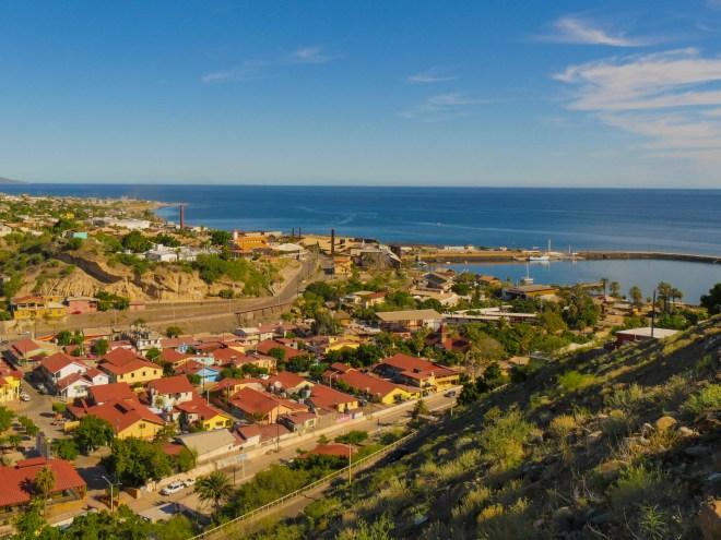 The town of Santa Rosalía.