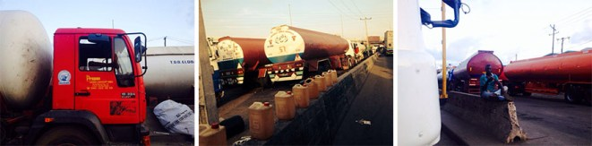 Tankers stalled in Apapa.