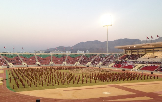 Festivities at the Sultan Qaboos Sports Complex in Muscat were presided over by Deputy PM Sayyid Fahad bin Mahmood