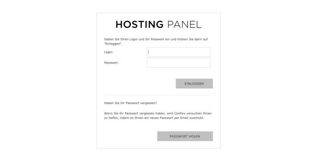 Login Webhosting