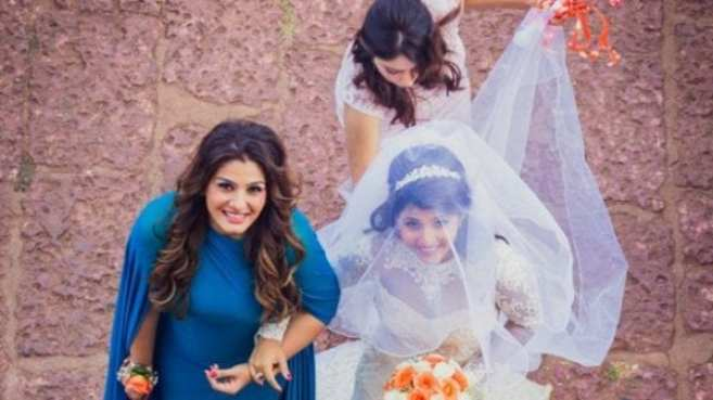 Image result for raveena tandon with adopted daughters