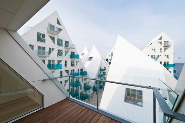 Isbjerget, interiør lejligheder