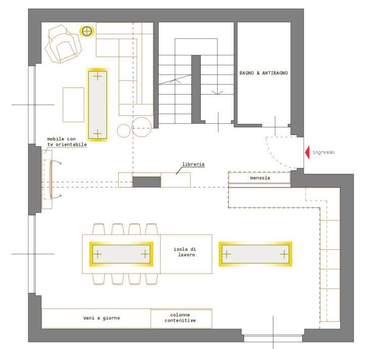 ingresso si apre la zona giorno open space: Cucina E Soggiorno Open Space Come Organizzare L Ambiente