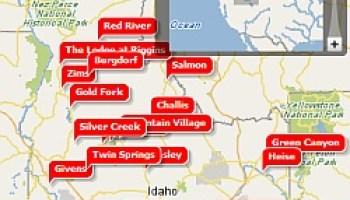 map of mercial hot springs in idaho