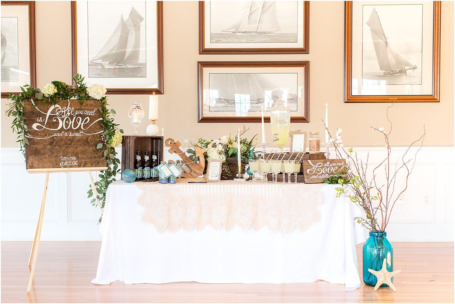 Brant Beach Yacht Club Wedding Inspiration Shoot LBI Wedding Venue