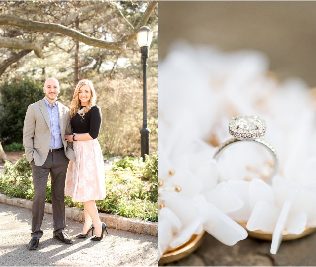 Engagement In Fort Tryon Park Hair And Makeup By Pin It Up Bridal Nyc Engagement