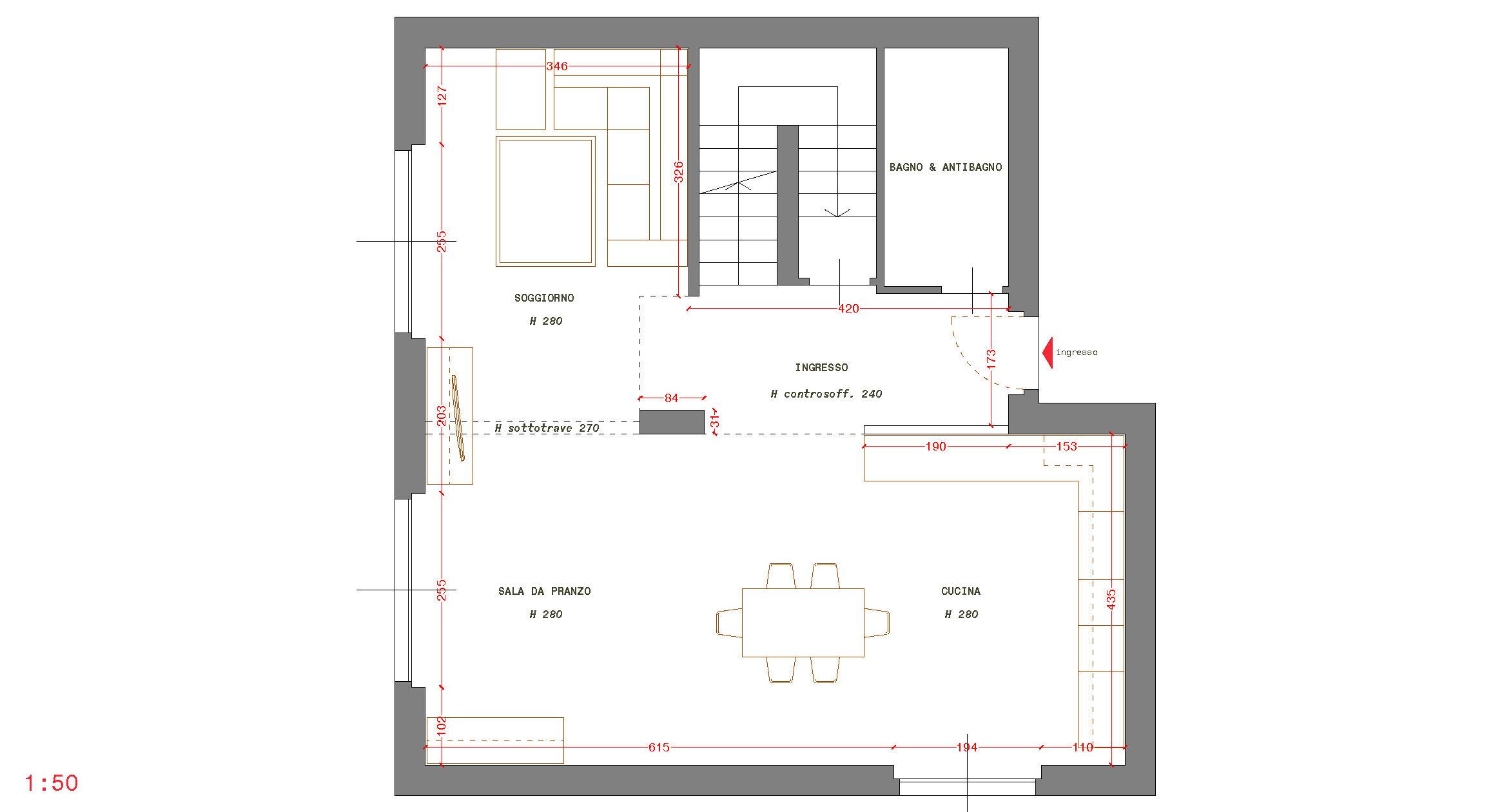 cucina e soggiorno open space 50 mq. Residenziale Archives Id Architettura