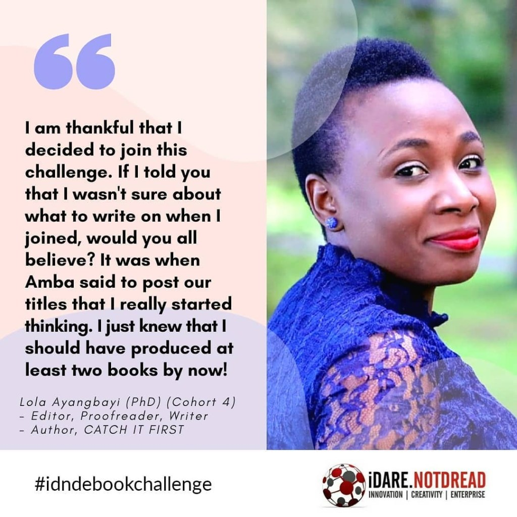 Idarenotdread eBook challenge