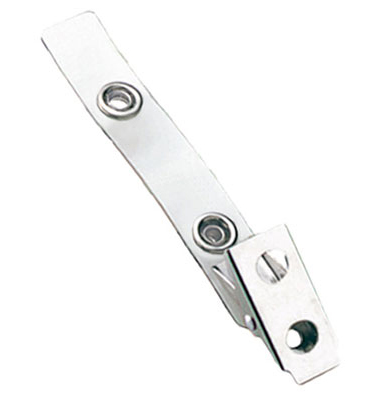Standard Strap Clip Clear Vinyl Bulldog Clip