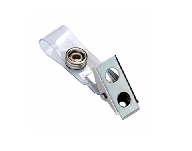 "Standard Strap Clip Clear Vinyl Bulldog Clip (2 3/4"" strap) - 10003"