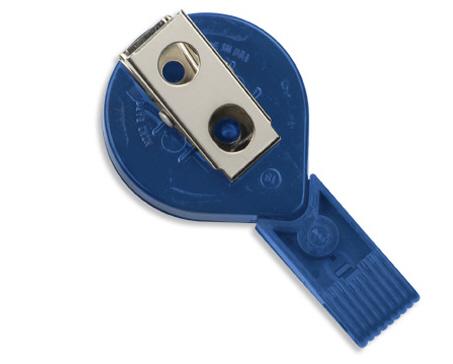 Twist Free Mini-Back Swivel Bulldog Clip Badge Reel