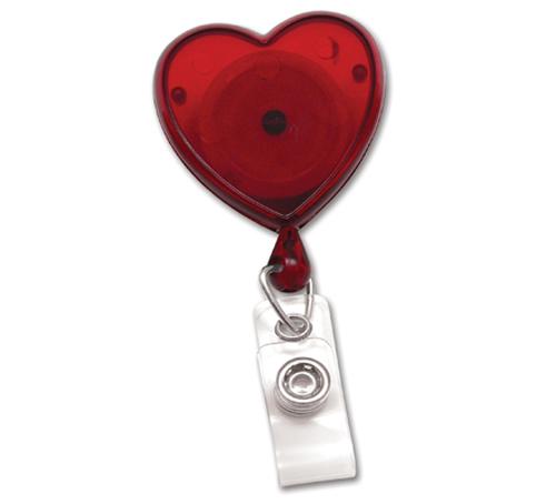 Heart Shaped Badge ReelPack of 25