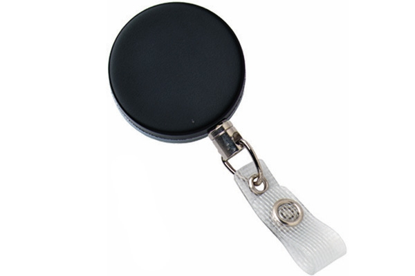 Heavy Duty Slide Belt w/ Wire Cord and Clear Vinyl Strap Badge Reel