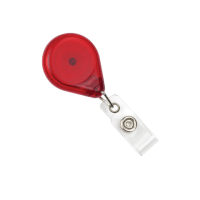 Premium Badge Reel with Resist Twist Translucent Red