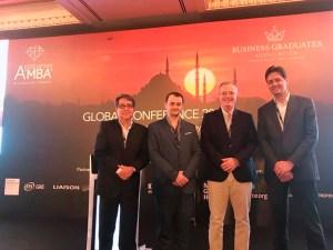 De izquierda a derecha, RaCarlos FollE Director de programas internacionales y acreditaciones de IEEM, Uruguay