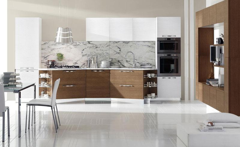 Sembrerà strano ma anche un solo complemento d'arredo in legno può conferire calore e creare un ambiente accogliente per la vostra cucina moderna. Cucina Moderna Design Italiano