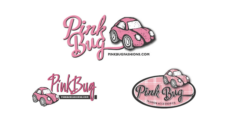 pink bug Fashion Logos