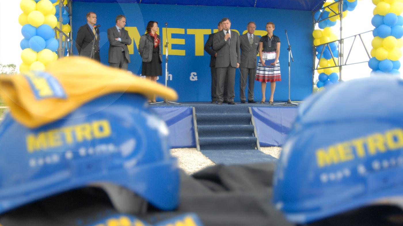 Закладка первого камня ТЦ «METRO»