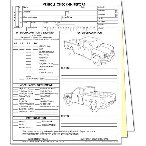 Inspection 4 Damage Door Truck Form