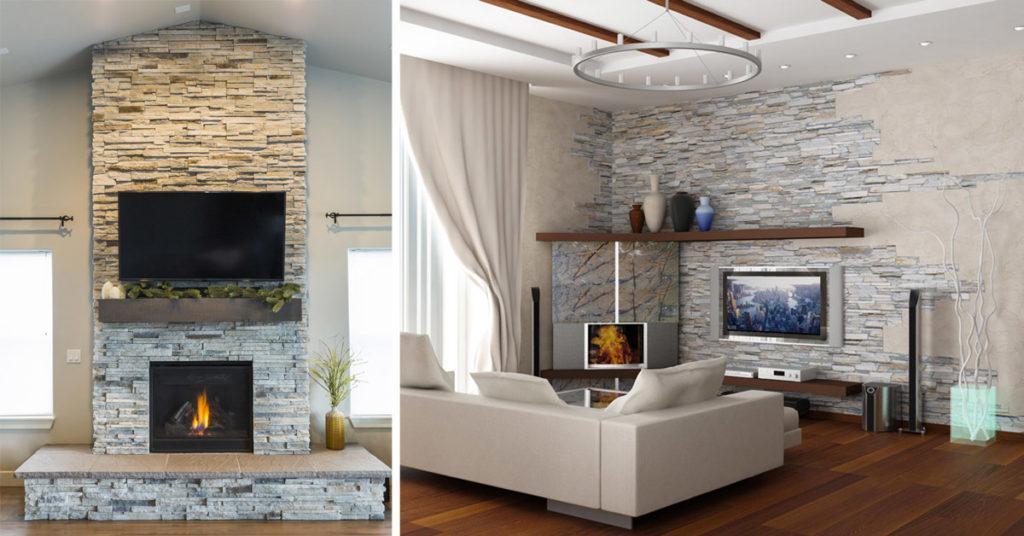 Arredare con stile questo ambiente oggi è possibile anche ricorrendo all'effetto delle pareti rivestite in pietra. Decorare La Parete Tv Con Le Pietre 20 Idee