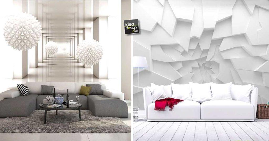 La parete del soggiorno dichiara il suo stile. Carta Da Parati Effetto 3d Grandioso Per Decorare 20 Esempi Stupendi
